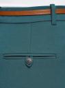 Брюки укороченные с ремнем oodji для женщины (зеленый), 21701094-1B/35589/6E00N