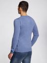 Пуловер с хлопковой вставкой на груди oodji #SECTION_NAME# (синий), 4B212006M/39245N/7410B - вид 3