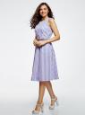 Платье с поясом без рукавов oodji #SECTION_NAME# (фиолетовый), 12C13008-1/46683/8012S - вид 6