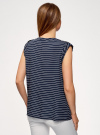 Блузка вискозная с нагрудными карманами oodji #SECTION_NAME# (синий), 21412132-5B/24681/7912S - вид 3