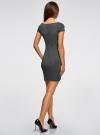 Платье трикотажное с принтом oodji для женщины (черный), 14001117-4/16564/2910S - вид 3