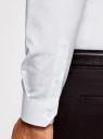Рубашка приталенного силуэта с цветочным принтом oodji #SECTION_NAME# (белый), 3L110342M/48802N/1000J - вид 5
