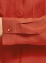 Блузка базовая из вискозы с нагрудными карманами oodji #SECTION_NAME# (красный), 11411127B/26346/4501N - вид 5