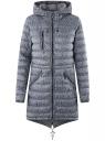 Куртка удлиненная с асимметричным низом oodji #SECTION_NAME# (серый), 10203056-2B/42257/2510G