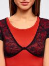 Жакет-болеро кружевной на пуговице oodji для женщины (черный), 14607001-1/24438/2900N - вид 4