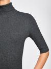 Платье вязаное с вырезом-капелькой на спине oodji #SECTION_NAME# (серый), 63912225/46999/2500M - вид 5