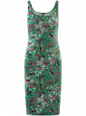 Платье-майка трикотажное oodji #SECTION_NAME# (зеленый), 14015007-3B/37809/6241U