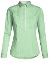 Рубашка приталенная с нагрудными карманами oodji #SECTION_NAME# (зеленый), 11403222-4/46440/6510S