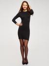 Платье базовое с рукавом 3/4 oodji для женщины (черный), 63912222-1B/46244/2900N - вид 2