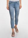 Капри джинсовые с потертостями oodji #SECTION_NAME# (синий), 12105016/45253/7500W - вид 2