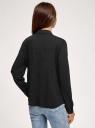 Блузка свободного силуэта с декоративными пуговицами на спине oodji #SECTION_NAME# (черный), 11401275/24681/2900N - вид 3
