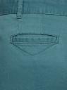 Брюки-чиносы из хлопка oodji для женщины (зеленый), 11706210/48500/6C00N