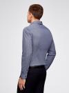 Рубашка хлопковая в мелкую графику oodji #SECTION_NAME# (синий), 3L110288M/19370N/1079G - вид 3