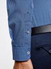 Рубашка приталенного силуэта принтованная oodji #SECTION_NAME# (синий), 3L110260M/19370N/1079G - вид 5
