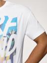 Футболка хлопковая с принтом oodji для мужчины (белый), 5L651000I-3/47885N/1019P
