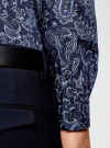Рубашка принтованная из хлопка oodji для мужчины (синий), 3B110027M/19370N/7975E - вид 5