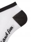 Комплект из трех пар укороченных носков oodji для женщины (белый), 57102605T3/48022/12 - вид 3