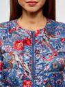 Куртка стеганая с принтом oodji #SECTION_NAME# (синий), 10203050-1M/42257/7545F - вид 4