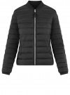 Куртка-бомбер на молнии oodji #SECTION_NAME# (черный), 10203061-1B/33445/2900N