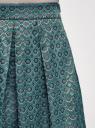 Юбка расклешенная со встречными складками oodji для женщины (зеленый), 11600396-3/45935/6E29G