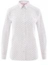 Рубашка базовая из хлопка oodji для женщины (белый), 13K03007B/26357/1029G