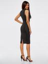 Платье облегающего силуэта с воротником-стойкой oodji #SECTION_NAME# (черный), 14005138-3B/46943/2912D - вид 3
