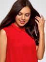 Топ базовый из струящейся ткани oodji для женщины (красный), 14911006B/43414/4501N