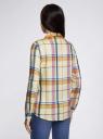 Блузка принтованная из вискозы oodji #SECTION_NAME# (желтый), 11411098-4/45208/504CC - вид 3