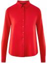 Блузка базовая из вискозы oodji #SECTION_NAME# (красный), 11411136B/26346/4502N
