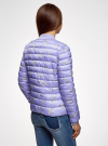 Куртка-бомбер на молнии oodji для женщины (синий), 10203061-2B/42257/7523O - вид 3