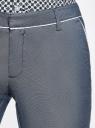 Брюки хлопковые с контрастной отделкой oodji #SECTION_NAME# (серый), 11703063-6/46602/7910B - вид 5