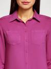 Блузка базовая из вискозы oodji #SECTION_NAME# (красный), 11400355-3/26346/4C00N - вид 4