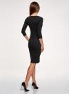 Платье в рубчик с рукавом 3/4 oodji #SECTION_NAME# (черный), 14001196/46412/2900N - вид 3