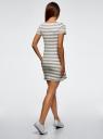 Платье A-образного силуэта с круглым вырезом oodji #SECTION_NAME# (серый), 14001201/48002/2312S - вид 3