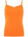 Майка базовая на бретелях oodji #SECTION_NAME# (оранжевый), 14305023-3B/46866/5500N