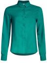 Блузка базовая из вискозы oodji #SECTION_NAME# (зеленый), 11411136B/26346/6D00N