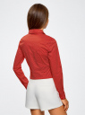 Рубашка базовая с нагрудными карманами oodji #SECTION_NAME# (красный), 11403222B/42468/4512D - вид 3