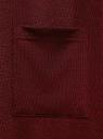 Кардиган без застежки с накладными карманами oodji #SECTION_NAME# (красный), 19208002/45723/4929M - вид 5
