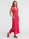Платье макси с черепом из страз oodji #SECTION_NAME# (розовый), 14005134/45204/4D91P - вид 6