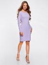 Платье трикотажное облегающего силуэта oodji для женщины (фиолетовый), 14001183B/46148/8000N - вид 6
