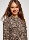 Блузка вискозная с регулировкой длины рукава oodji #SECTION_NAME# (коричневый), 11403225-9B/48458/3729A - вид 4