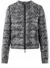 Куртка стеганая с круглым вырезом oodji #SECTION_NAME# (черный), 10203072B/42257/2923L