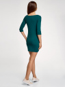 Платье трикотажное базовое oodji #SECTION_NAME# (зеленый), 14001071-2B/46148/6E00N - вид 3