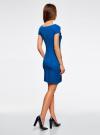 Платье из фактурной ткани с вырезом-лодочкой oodji #SECTION_NAME# (синий), 14001117-11B/45211/7502N - вид 3