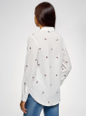 Блузка прямого силуэта с вышивкой oodji #SECTION_NAME# (белый), 11411134-2B/49474/1245O - вид 3