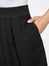 Юбка расклешенная с отделкой из искусственной кожи oodji #SECTION_NAME# (черный), 11600388-5/46966/2912O - вид 4