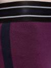 Легинсы с широким поясом-резинкой и лампасами oodji #SECTION_NAME# (фиолетовый), 18700064/47618/8800N - вид 5