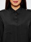 Блузка с погонами и нагрудными карманами oodji #SECTION_NAME# (черный), 21411064/42144/2900N - вид 4