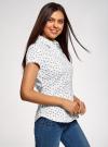 Рубашка хлопковая с коротким рукавом oodji #SECTION_NAME# (белый), 13K01004-1B/14885/1029O - вид 2