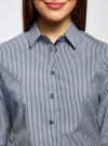 Рубашка с рукавом 3/4 хлопковая oodji #SECTION_NAME# (серый), 11403201-1/43346/7910S - вид 4